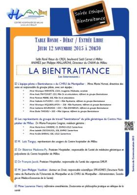 Jeudi 12 novembre à 20h30 : Soirée Ethique sur la Bientraitance